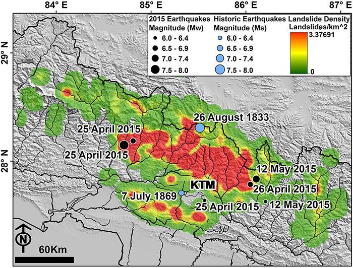 A Map Of The 2015 Nepal Earthquake Region