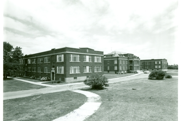 Modern Classroom Building ~ From the archives university hall at west campus