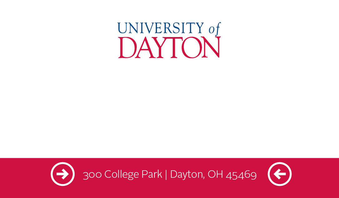 Business Cards University Of Dayton Ohio - Student business cards templates