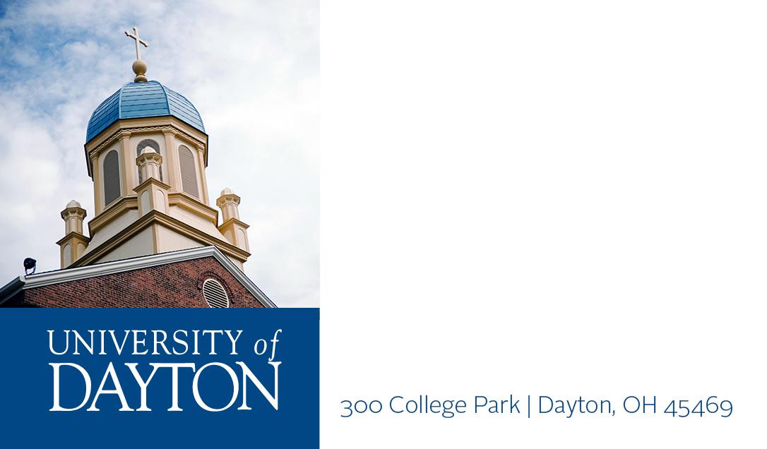 business cards   university of dayton  ohio