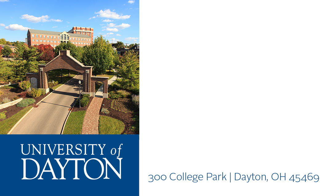 Business Cards : University of Dayton, Ohio