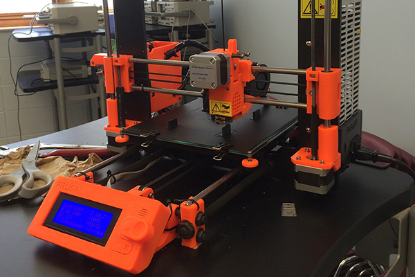 3D printer used by Gonzalo Perez, who collaborated with Prof. Mark Diller on developing mechanical design methodologies for 3D printed components.