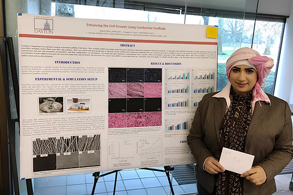 Nuha Al Habis, materials engineering, doctoral student, first place at SOCHE Stem-Cyber Research Fair