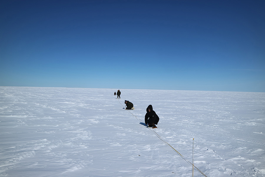Researchers in Arctic