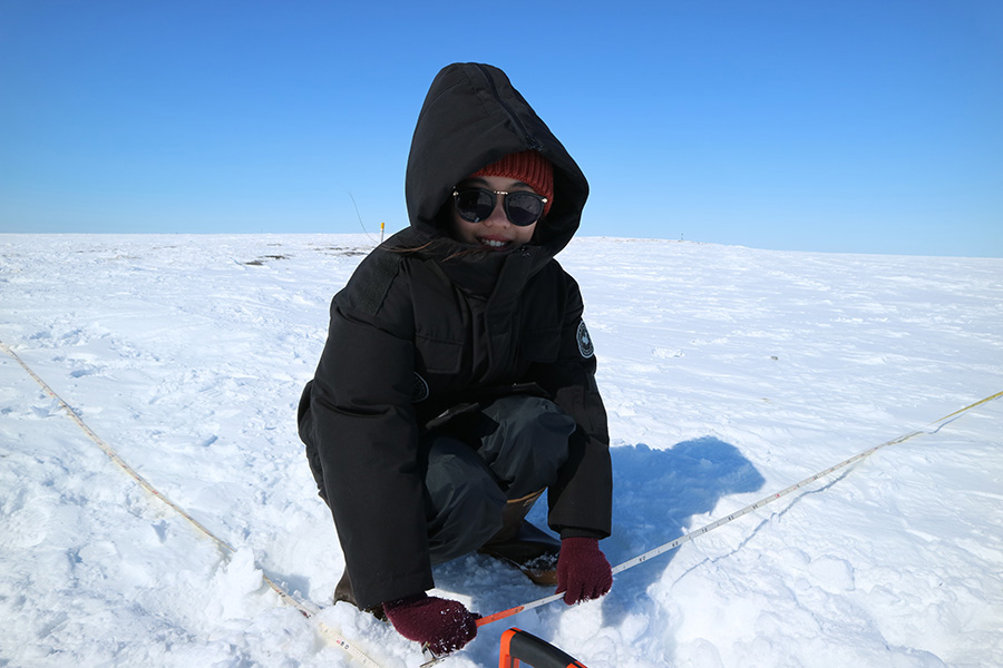 Ming Gong, Researcher, in the Arctic