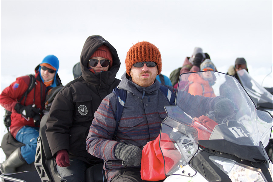 Ming Gong '15 Electronic and Computer Engineering Technology, Travels by Snowmobile as Arctic Researcher