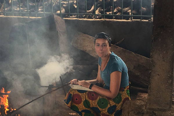 Erin Peiffer, renewable and clean energy graduate student, in Ghana