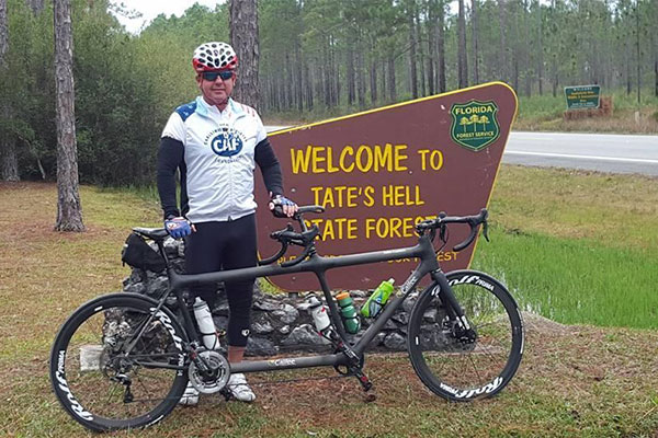 Air Force veteran and blind athlete, Larry Gunter