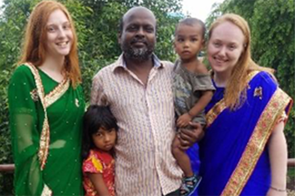 Senior chemical engineering student Molly Savage in Patna, India.
