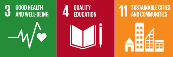 Good Health and Well-Being, Quality Education, Sustainable Cities and Communities