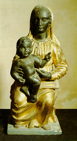 Black and blue white and gold dress original picture of statue
