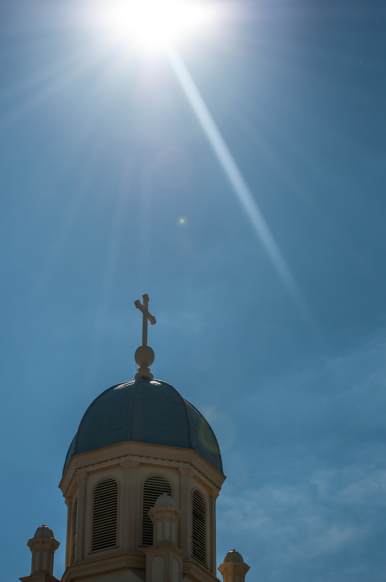 Chapel dome with sun