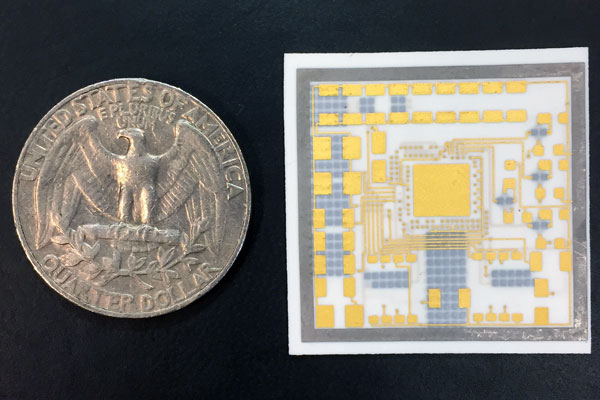 Photo of postage-stamp-sized ceramic module