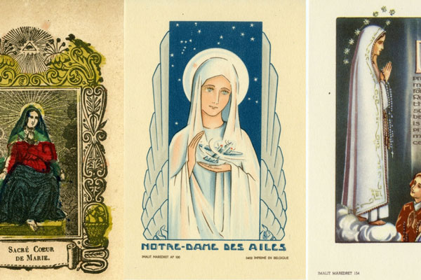 Marian holy cards