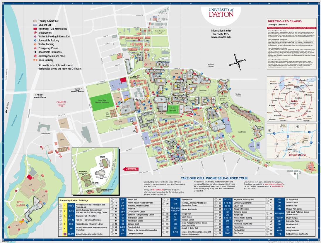Parking Map University of Dayton Ohio – Map University