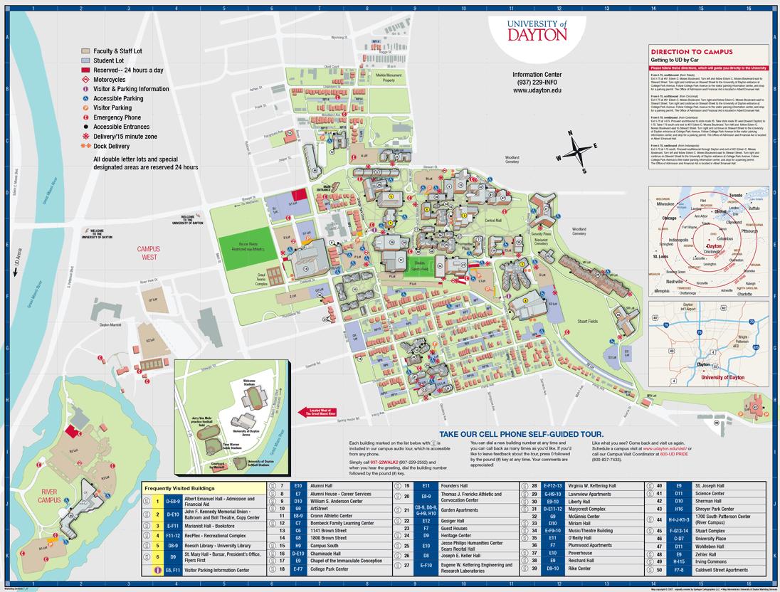Campus Map : University of Dayton, Ohio