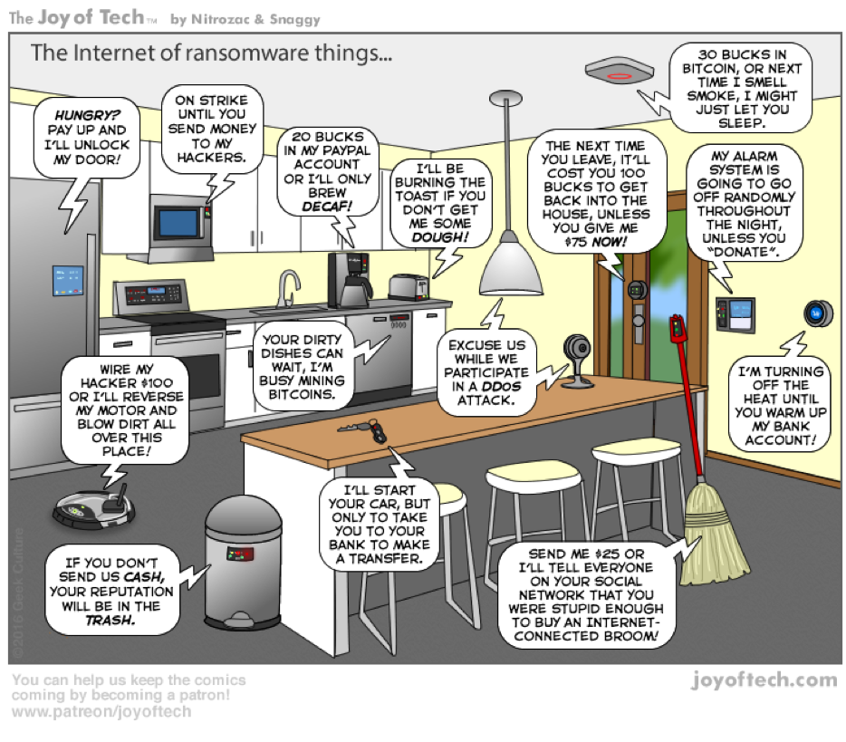 Internet of ransomware things